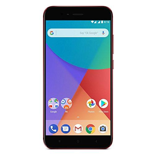 "Xiaomi Mi A1 - Smartphone libre de 5.5"" (4G, WiFi, Bluetooth, Snapdragon 625 Octa Core, 32 GB, 4 GB de RAM, Android One), Rojo"