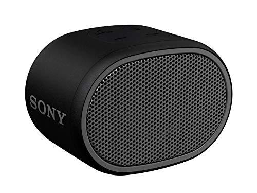 Sony SRSXB01B - Altavoz inalámbrico portátil (Compacto, Bluetooth, Extra Bass, 6h de batería, Resistente al Agua IPX5, Viene con Correa) Color Negro